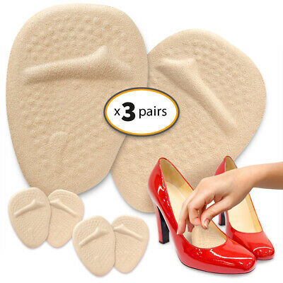 Metatarsal Pads for Women On The Go (3 Pairs) Ball of Foot Cushions Shoe Inserts