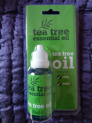 30 ml Bottle Tea Tree Essential Oil for Skin and Nails 30ml sealed brand new UK