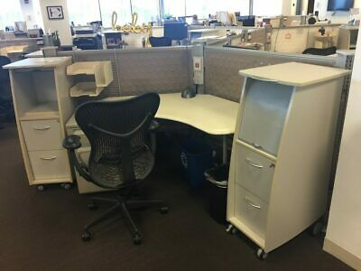 Used Office Cubicles, Herman Miller Resolve 5x5 Cubicles
