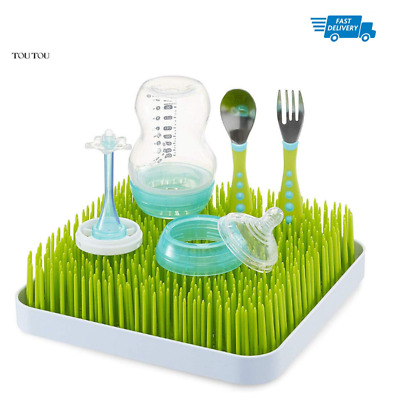 Boon Grass Countertop Drying Rack Anti-Bacterial Easy Hold Clean Lawn Kitchen