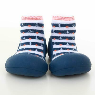 Attipas Marine Arrow Pre Walker Baby Shoes, Navy, Free Postage in Australia