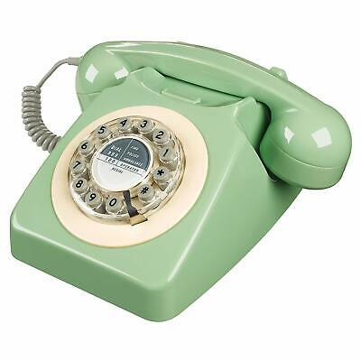 Retro Green Phone Push Button Vintage Desk Telephone Corded Collectors Gifts