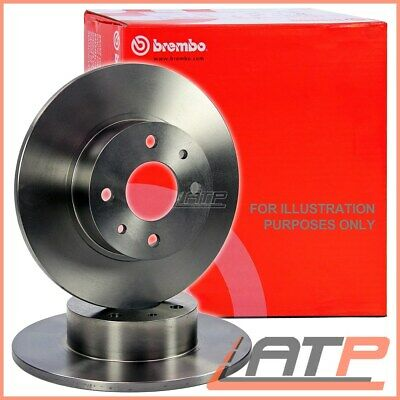 Brembo Brake Disc Set Front Solid Ø227 Autobianchi A 112 69-85 Y10 85-95