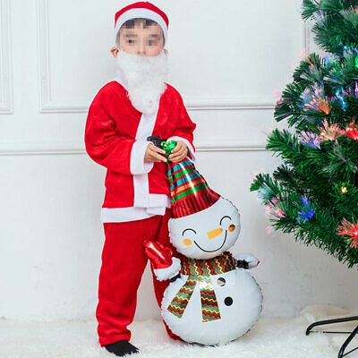 Christmas Santa Claus Costume Fancy Dress Suits Cosplay Outfits Non-woven Fabric