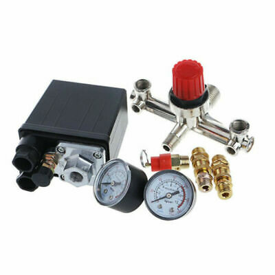 Manifold Regulator Valve And Gauges Air Compressor Pressure Control Switch Parts