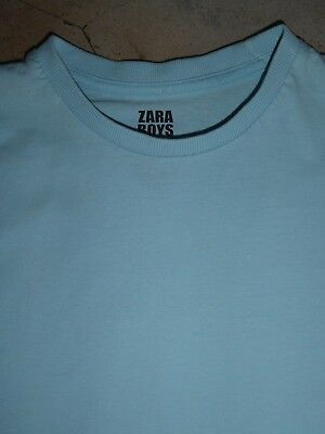 Zara Kids Boys Sky Blue T-Shirt 5-6 Years