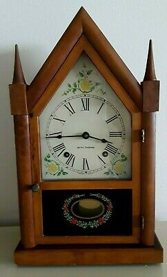 """VTG 1940's / 50s, SETH THOMAS """"THE SHARON"""" STEEPLE WIND UP CLOCK, WORKING, CHIME"""
