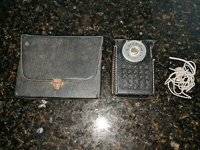 Vintage RCA Victor AM Transistor Radio Model 3 RH21G with Case / Earbud