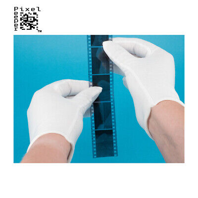 2 Pairs of Premium Cotton Gloves for Handling Film, Negatives & Archive Material