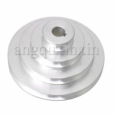 Aluminum A type V-Type 4 Step Pagoda Pulley for Machine Lathe 41-130mm Outer Dia