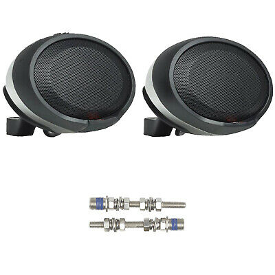 2x JBL PWSSPKCRUISECHAM Bluetooth Chrome Speaker Pods w/Harley Davidson Bolt Kit