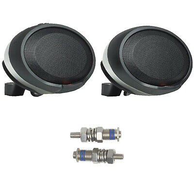 2x JBL PWSSPKCRUISECHAM Handlebar Bluetooth Chrome Speaker Pods w/ 10mm Bolt Kit