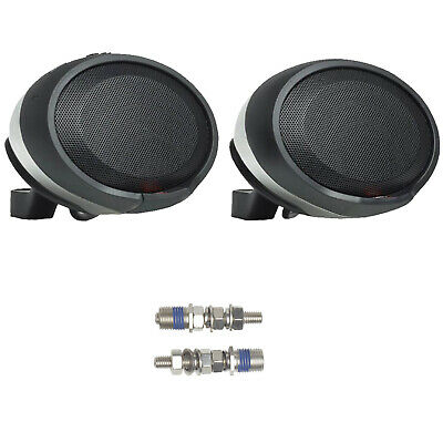 2 x JBL PWSSPKCRUISECHAM Handlebar Bluetooth Chrome Speaker Pods w/ 8mm Bolt Kit