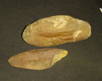 HANDAXE and  BURIN SET Found next to each other Chert with engravings Ancient Ar