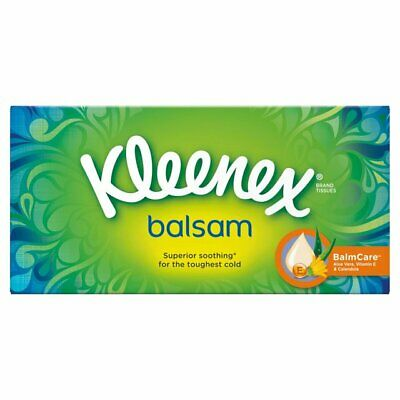 Brand New 24 x Boxes of Kleenex Balsam Tissues