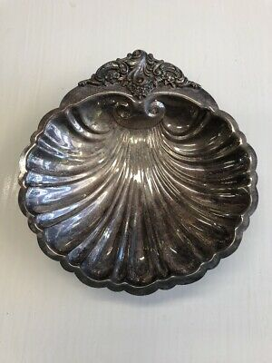 Vintage antique silver plate Wallace baroque shell dish