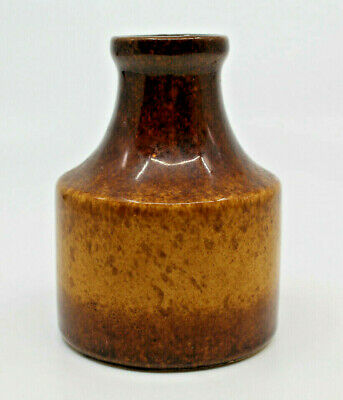 "Scheurich West Germany Studio Pottery Vase 10cm 3 7/8"" Tall Brown 550-10 Vintage"