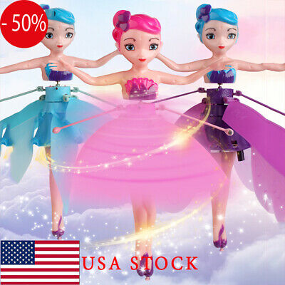 Flying Fairy Princess Dolls Magic Infrared Induction Control Toy Xmas Gifts USA