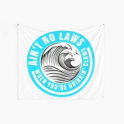 Trevor Wallace Cover Ain/'t No Laws When You/'re Drinking Claws Color Pillow Case