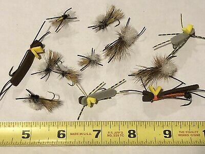 1 PANFISH TROUT BASS BREAM CRAPPIE BLUEGILL POPPER FLY FISHING RED CORK SPIDER