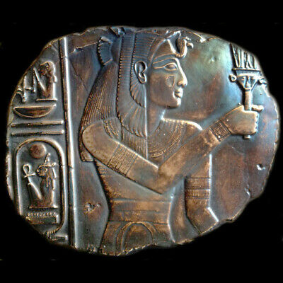 Isis or Egyptian Queen sculpture Wall Relief plaque Dark Bronze Finish