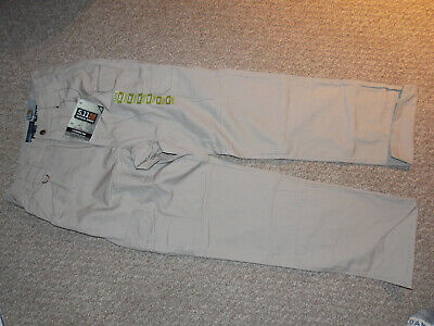 NEW WITH TAGS Men's 5.11 Tactical Series Military Cargo Pant Size 30 x 36 Beige