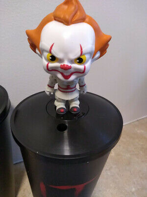 It Chapter 2 Movie Theater Cups with Bobblehead Topper - set of two.