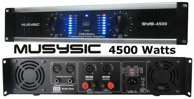2 channel 6500 watts professional power amplifier amp stereo  2 channel 3000 watts 2u stereo