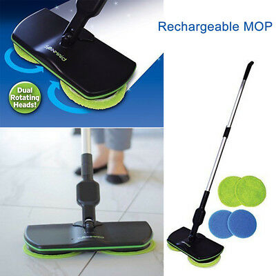 Home Electric Rechargeable Cordless Powered Floor Cleaner Scrubber Polisher Mop
