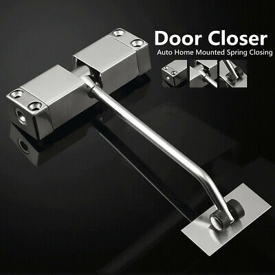 Adjustable Surface Mounted Door/Gate Closer Auto Spring Loaded Stainless Steel