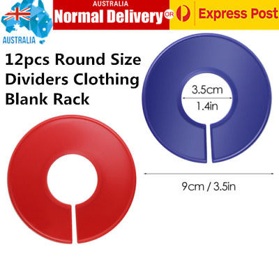 12x Blank Round Clothing Rack Size Dividers Hangers Ring Tags for Clothing Store