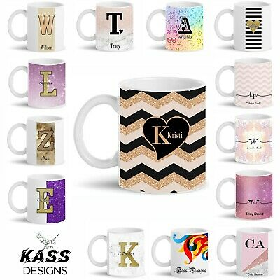 Personalised Mug Fancy Marble Glitter Pattern Mug Cup Name Text Custom Gift Idea