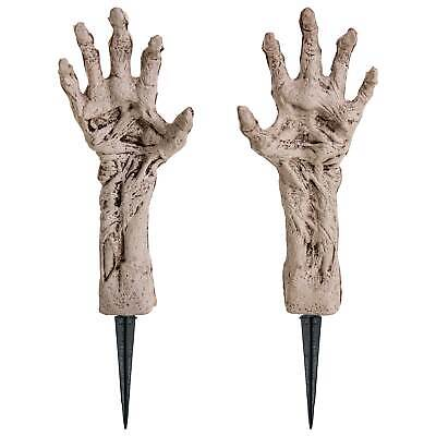 "Halloween Haunters 14"" Severed Zombie Ghoul Hands and Arms Groundbreaker Prop"