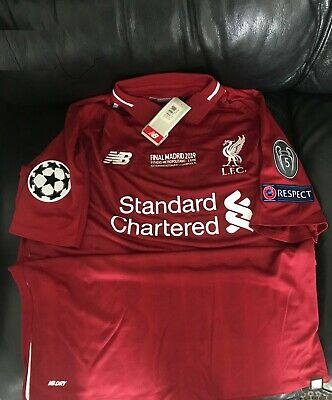 limited edition Liverpool home shirt champions league 2019 final win matchday
