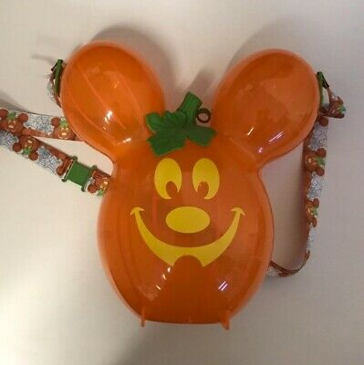 NEW Disney Parks 2019 Mickey Mouse Halloween Pumpkin Balloon Popcorn Bucket