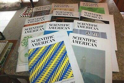 Scientific American Magazine lot Of 11 Vintage from 1968