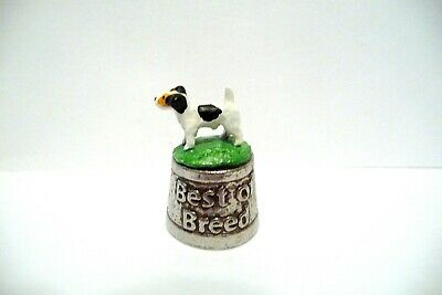 """Thimble Pewter Stephen Frost """"Best Of Breed"""" Handpainted Topper Jack Russell Ter"""