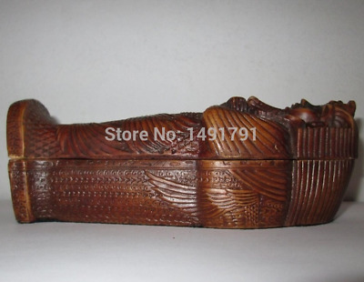 Egyptian King Tut tomb coffin mummy statue pharaoh sarcophagus ANCIENT EGYPT Rea