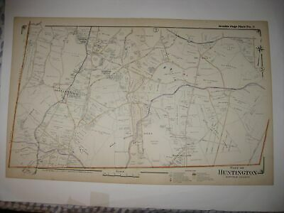 Antique 1917 Huntington Melville Half Hollow Dix Hills New York Hndclr Dated Map