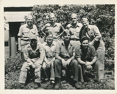 WWII 1944 US Navy VP-63 PBY Catalina officers group 4x5 photo #2