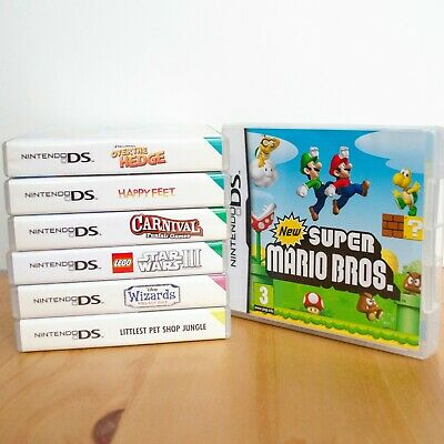 Nintendo DS Games Bundle of 7 w Mario n Lego Star Wars III ALL IN WORKING ORDER