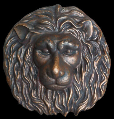 Roman Lion Head wall sculpture Dark Bronze finish