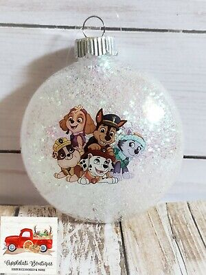Paw Patrol Christmas Ornaments Personalized.Paw Patrol Inspired Christmas Ornaments 14 75 Picclick