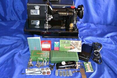 Singer Featherweight 221 Sewing Machine 1954 Serviced/Attachments/Quilters