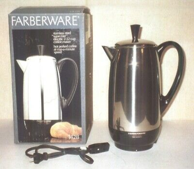 Farberware Superfast Fully Automatic 12 Cup Percolator Model #142 Made in USA