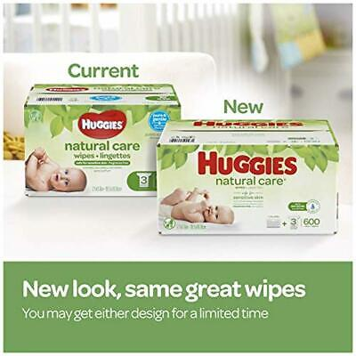 HUGGIES Natural Care Unscented Baby Wipes, Sensitive, 6 Disposable Flip-top Pack
