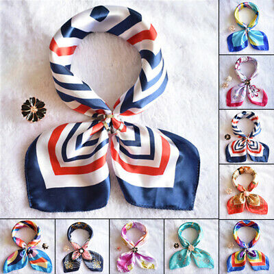 Ladies Scarf Small Retro Wrap Headband Soft Neck Stylish DIY Hair Tie Satin Band