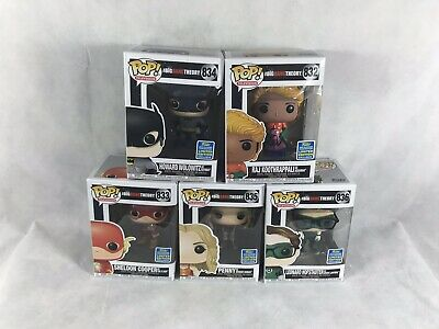 Complete Collection Funko POP BIG BANG THEORY 2019 SDCC FREE SHIPPING! New!!!!!!