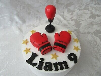 Fantastic Boxing Birthday Personalised Cake Topper With 14 Loose Boxing Funny Birthday Cards Online Hendilapandamsfinfo