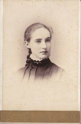 Old Cabinet Photo Woman Glamour Syracuse New York Named Millard Cook 1880S F4